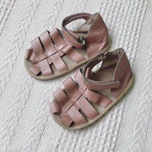 PIPER & ME blush pearl pink, soft leather sandals